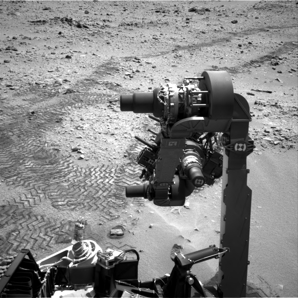 NASA's Mars rover Curiosity acquired this image using its Left Navigation Camera (Navcams) on Sol 84