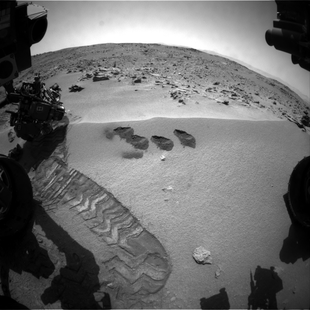 NASA's Mars rover Curiosity acquired this image using its Front Hazard Avoidance Cameras (Front Hazcams) on Sol 88