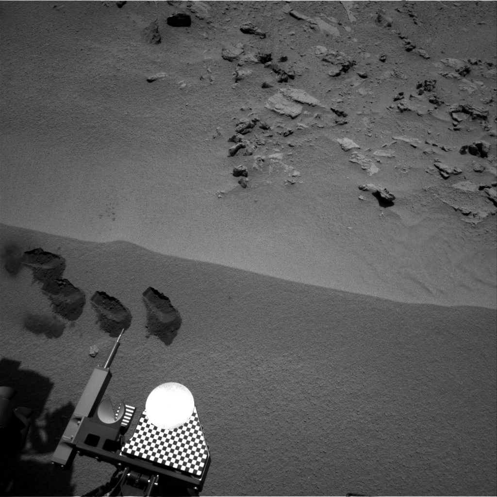 NASA's Mars rover Curiosity acquired this image using its Right Navigation Cameras (Navcams) on Sol 88