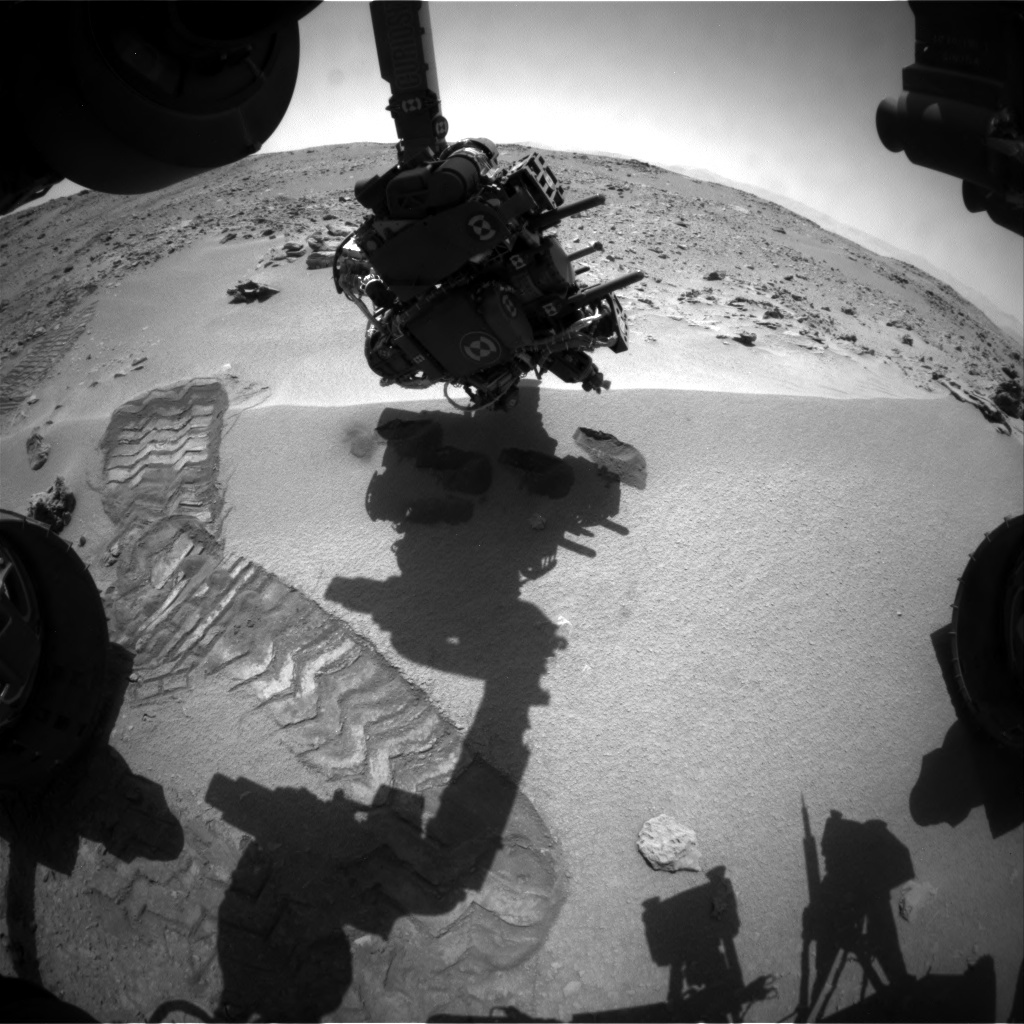 NASA's Mars rover Curiosity acquired this image using its Front Hazard Avoidance Cameras (Front Hazcams) on Sol 89