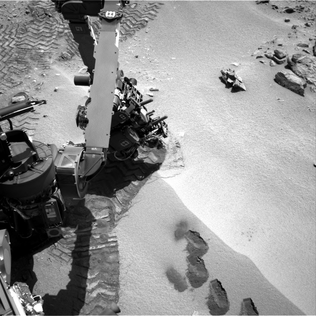 NASA's Mars rover Curiosity acquired this image using its Right Navigation Cameras (Navcams) on Sol 89