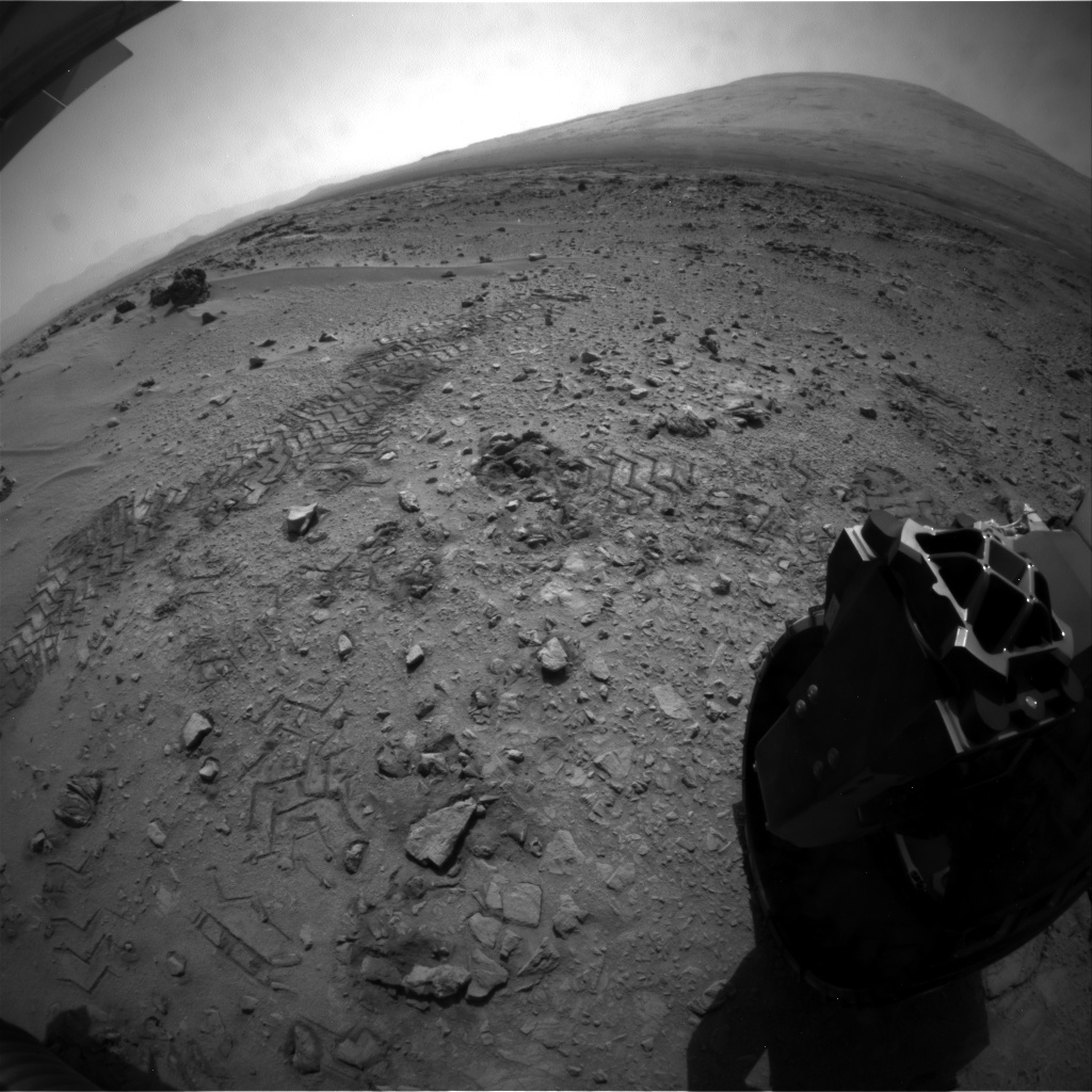 NASA's Mars rover Curiosity acquired this image using its Rear Hazard Avoidance Cameras (Rear Hazcams) on Sol 89