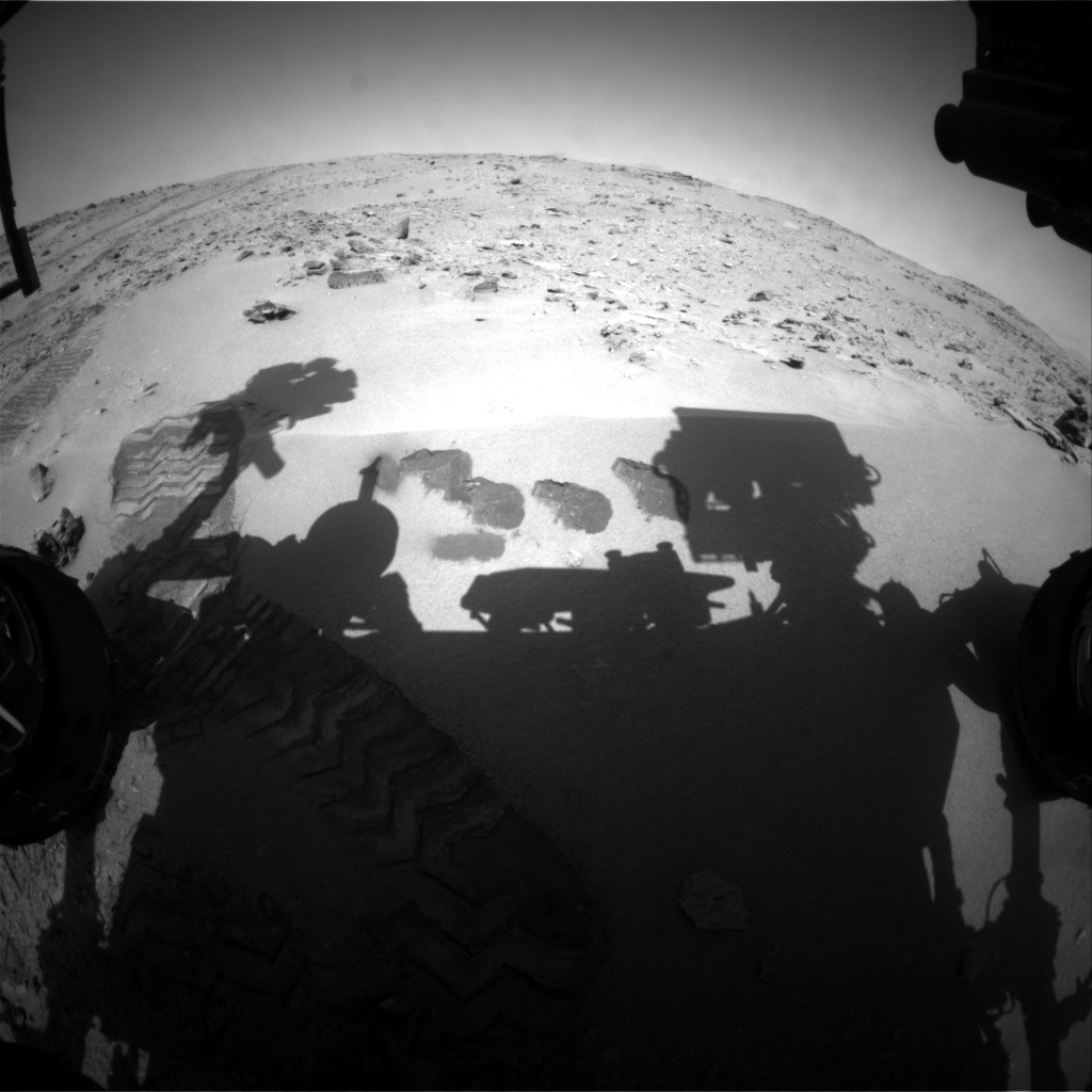 NASA's Mars rover Curiosity acquired this image using its Front Hazard Avoidance Cameras (Front Hazcams) on Sol 90