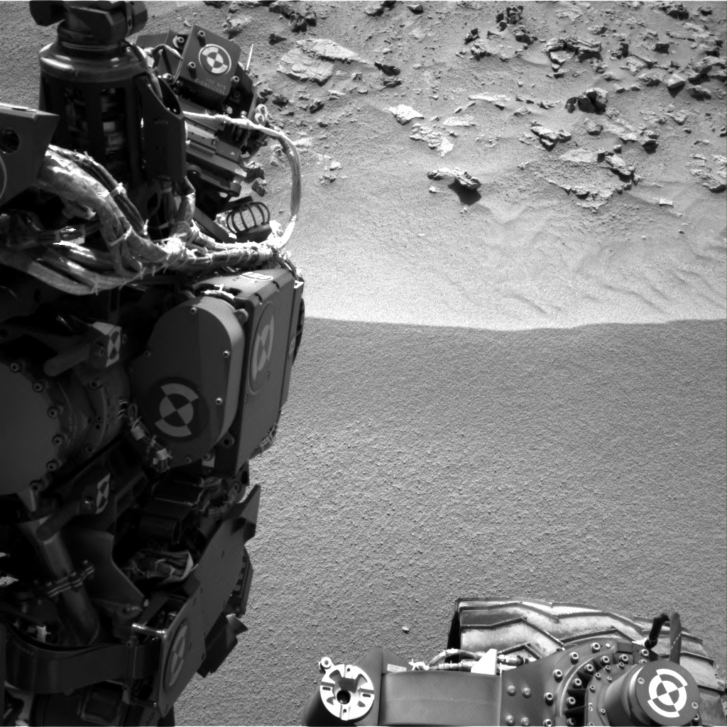 NASA's Mars rover Curiosity acquired this image using its Right Navigation Cameras (Navcams) on Sol 91