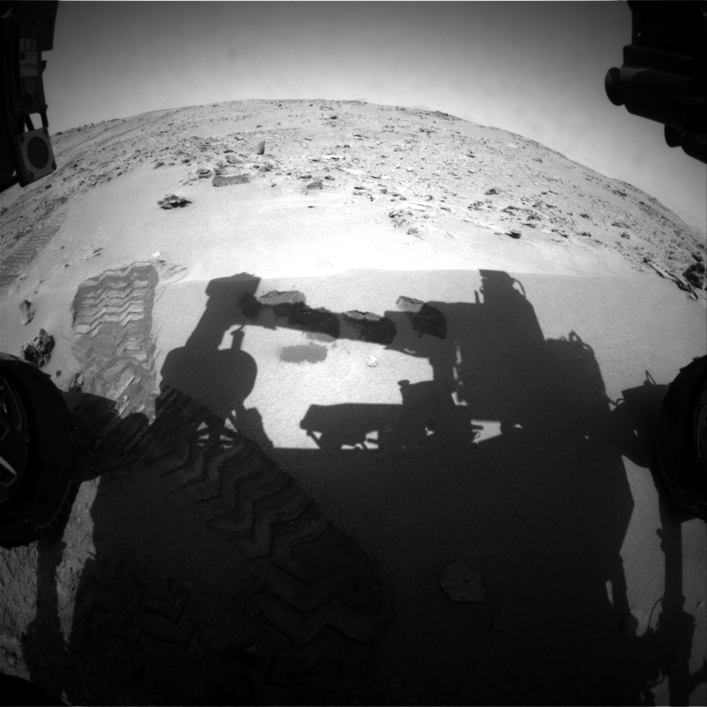 NASA's Mars rover Curiosity acquired this image using its Front Hazard Avoidance Cameras (Front Hazcams) on Sol 92