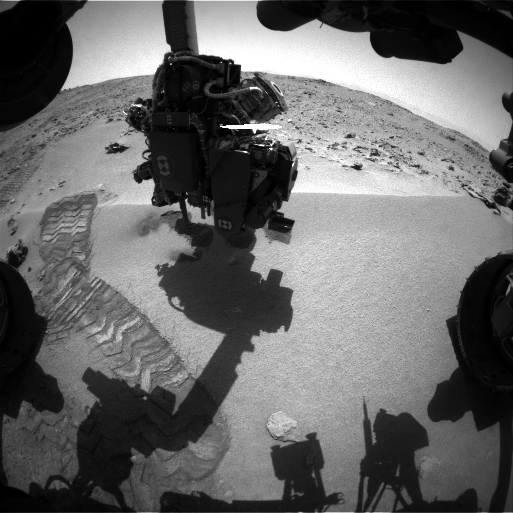 NASA's Mars rover Curiosity acquired this image using its Front Hazard Avoidance Cameras (Front Hazcams) on Sol 93
