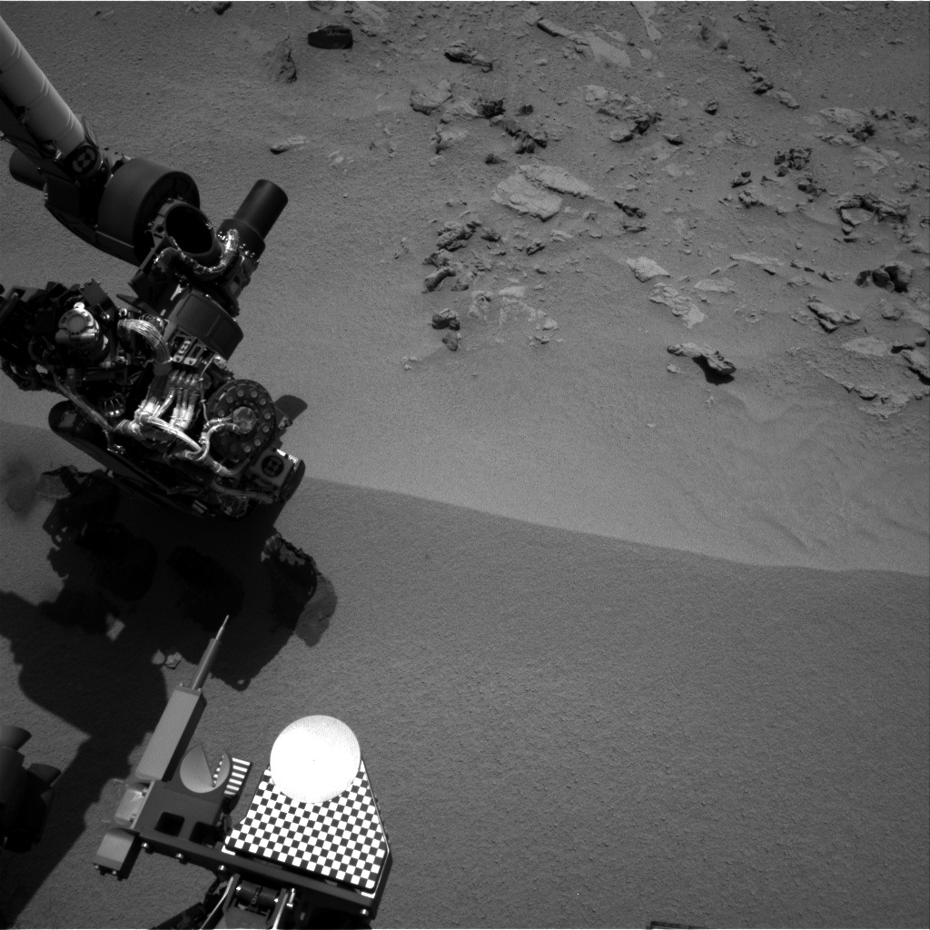 NASA's Mars rover Curiosity acquired this image using its Right Navigation Cameras (Navcams) on Sol 93