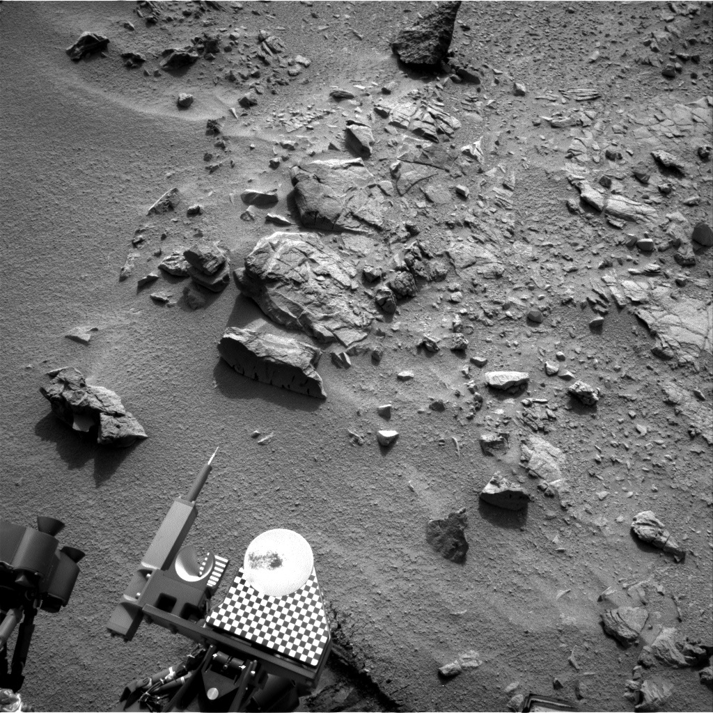 NASA's Mars rover Curiosity acquired this image using its Right Navigation Cameras (Navcams) on Sol 100