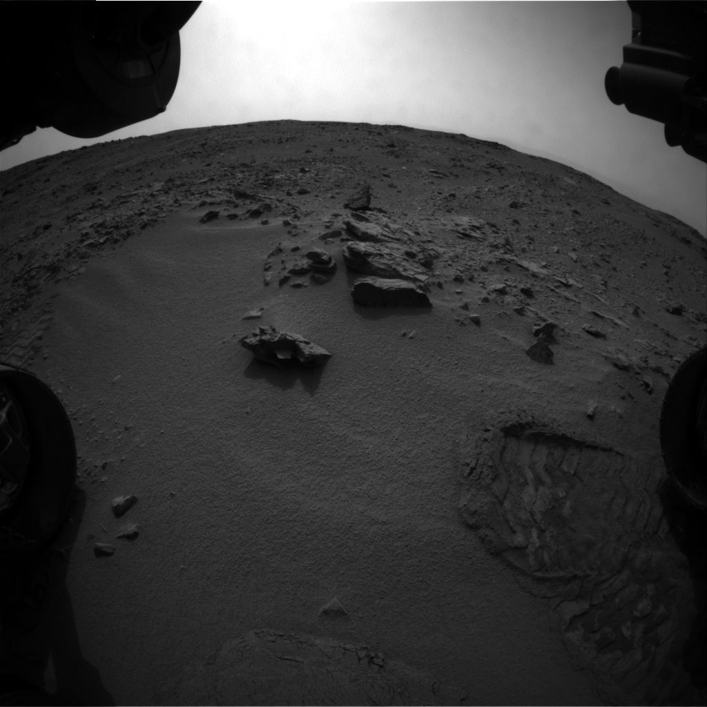 NASA's Mars rover Curiosity acquired this image using its Front Hazard Avoidance Cameras (Front Hazcams) on Sol 101