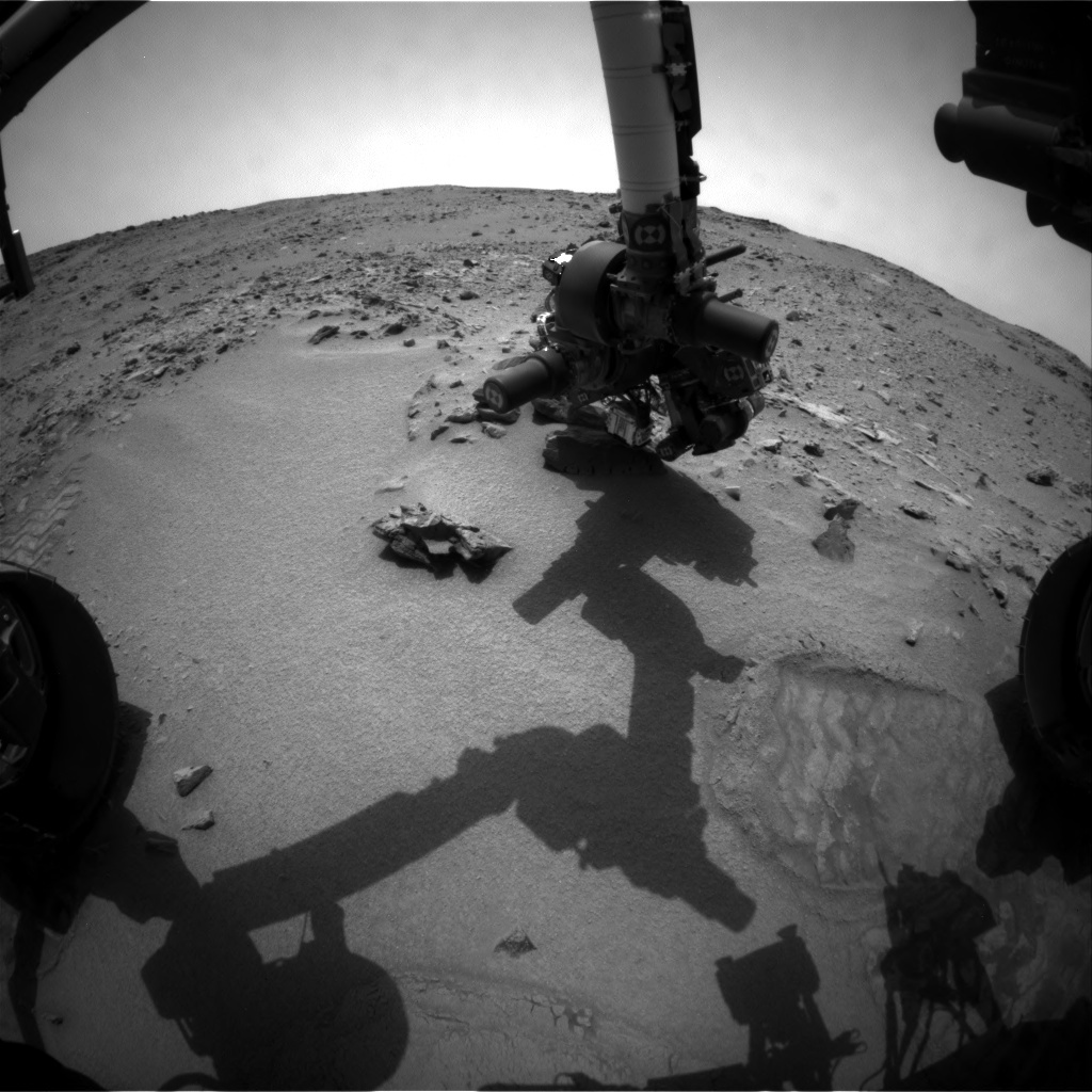 NASA's Mars rover Curiosity acquired this image using its Front Hazard Avoidance Cameras (Front Hazcams) on Sol 102