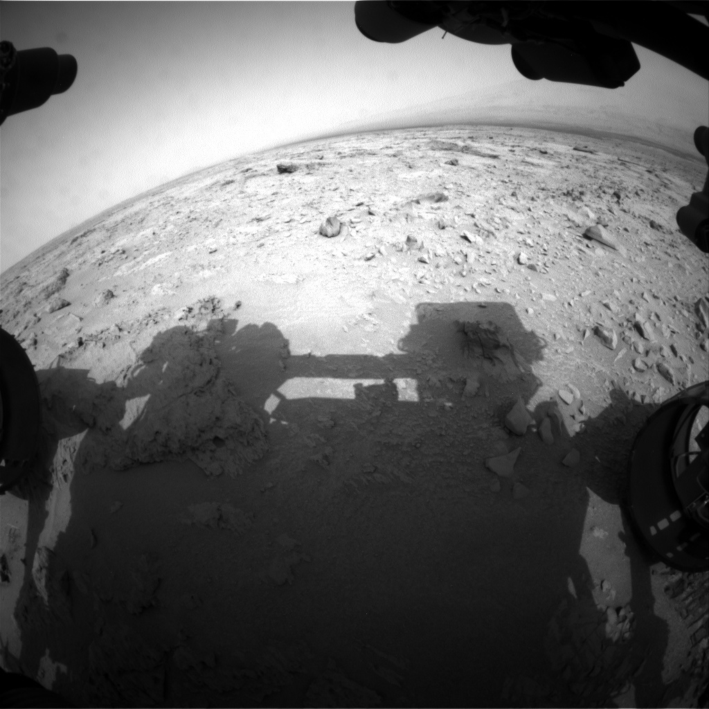 NASA's Mars rover Curiosity acquired this image using its Front Hazard Avoidance Cameras (Front Hazcams) on Sol 104