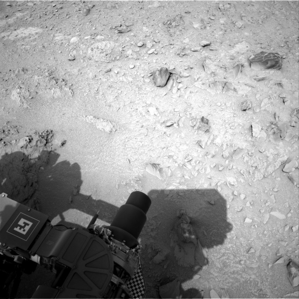 NASA's Mars rover Curiosity acquired this image using its Right Navigation Cameras (Navcams) on Sol 104