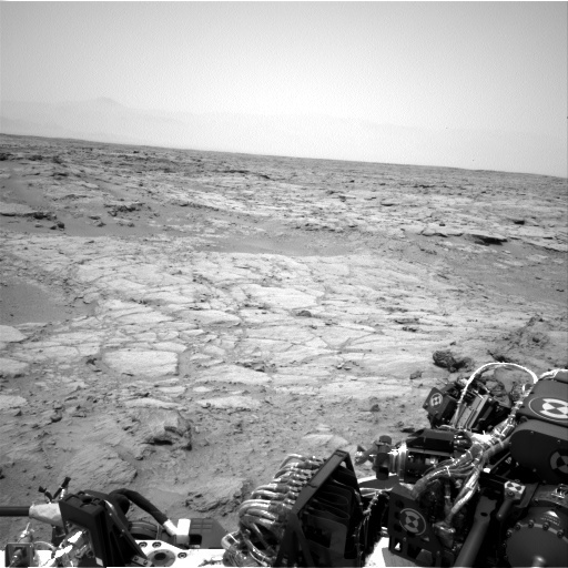 NASA's Mars rover Curiosity acquired this image using its Left Navigation Camera (Navcams) on Sol 107