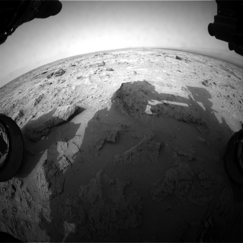 NASA's Mars rover Curiosity acquired this image using its Front Hazard Avoidance Cameras (Front Hazcams) on Sol 111