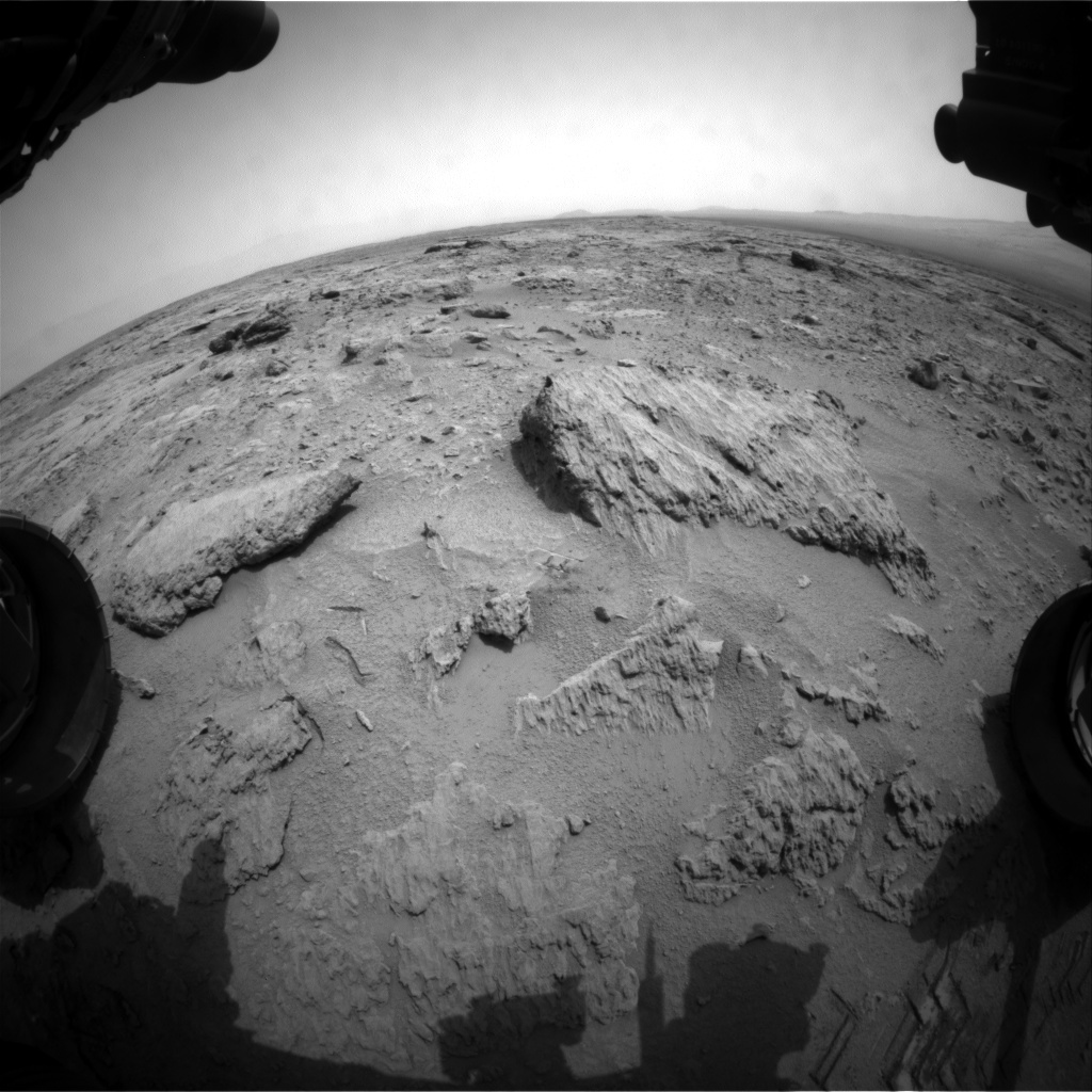 NASA's Mars rover Curiosity acquired this image using its Front Hazard Avoidance Cameras (Front Hazcams) on Sol 112