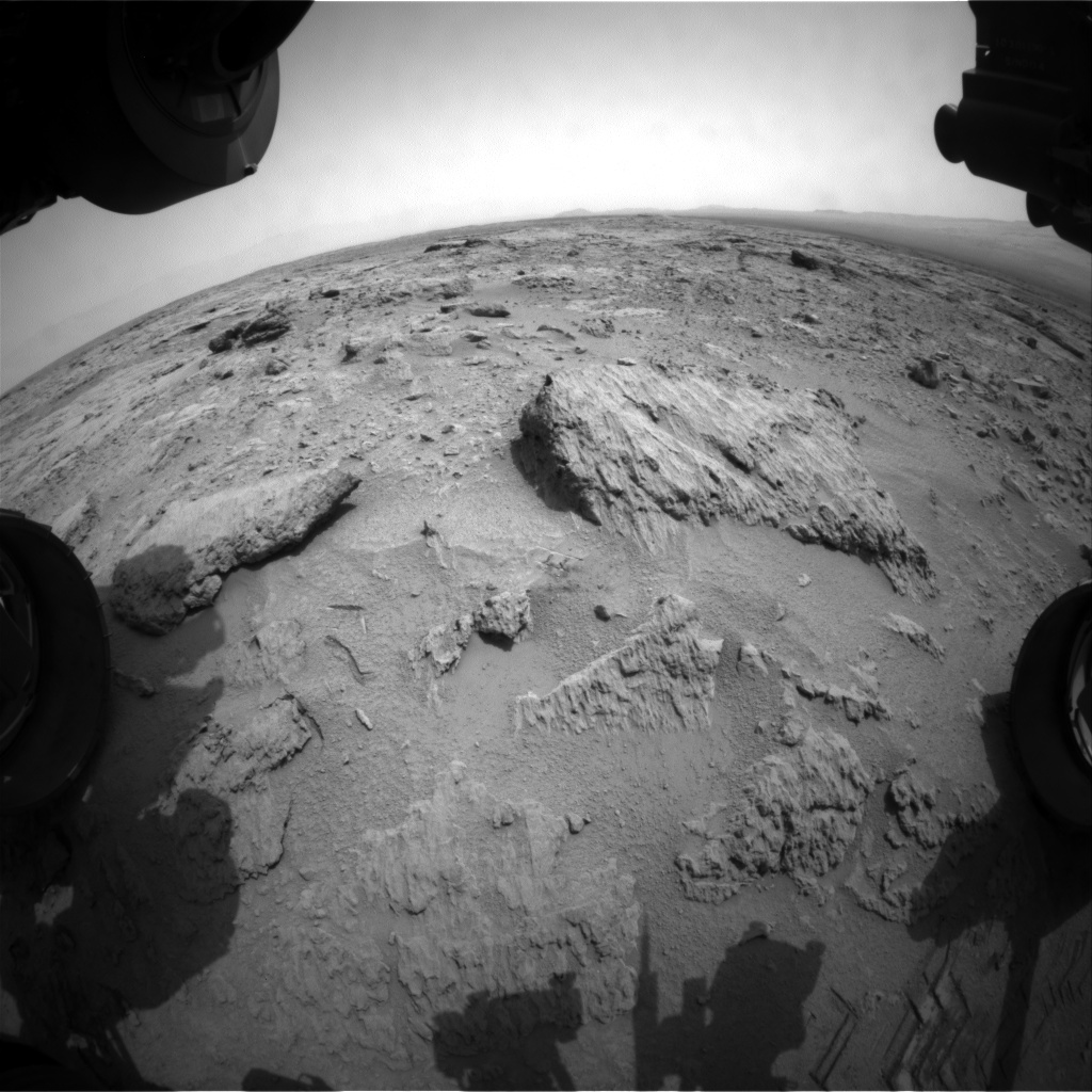NASA's Mars rover Curiosity acquired this image using its Front Hazard Avoidance Cameras (Front Hazcams) on Sol 114