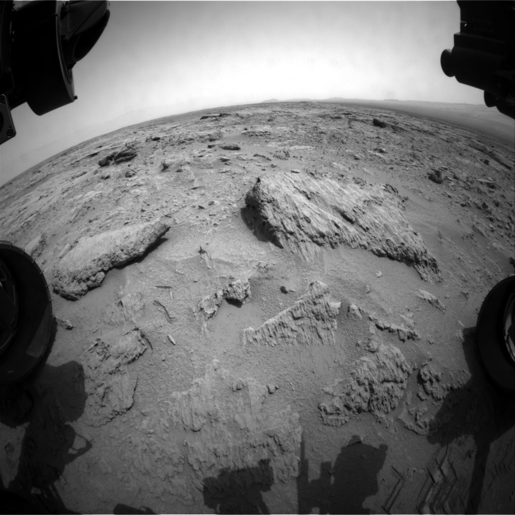 NASA's Mars rover Curiosity acquired this image using its Front Hazard Avoidance Cameras (Front Hazcams) on Sol 115