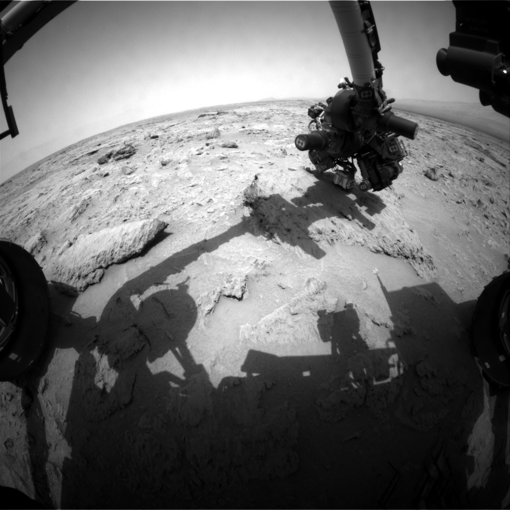 NASA's Mars rover Curiosity acquired this image using its Front Hazard Avoidance Cameras (Front Hazcams) on Sol 117