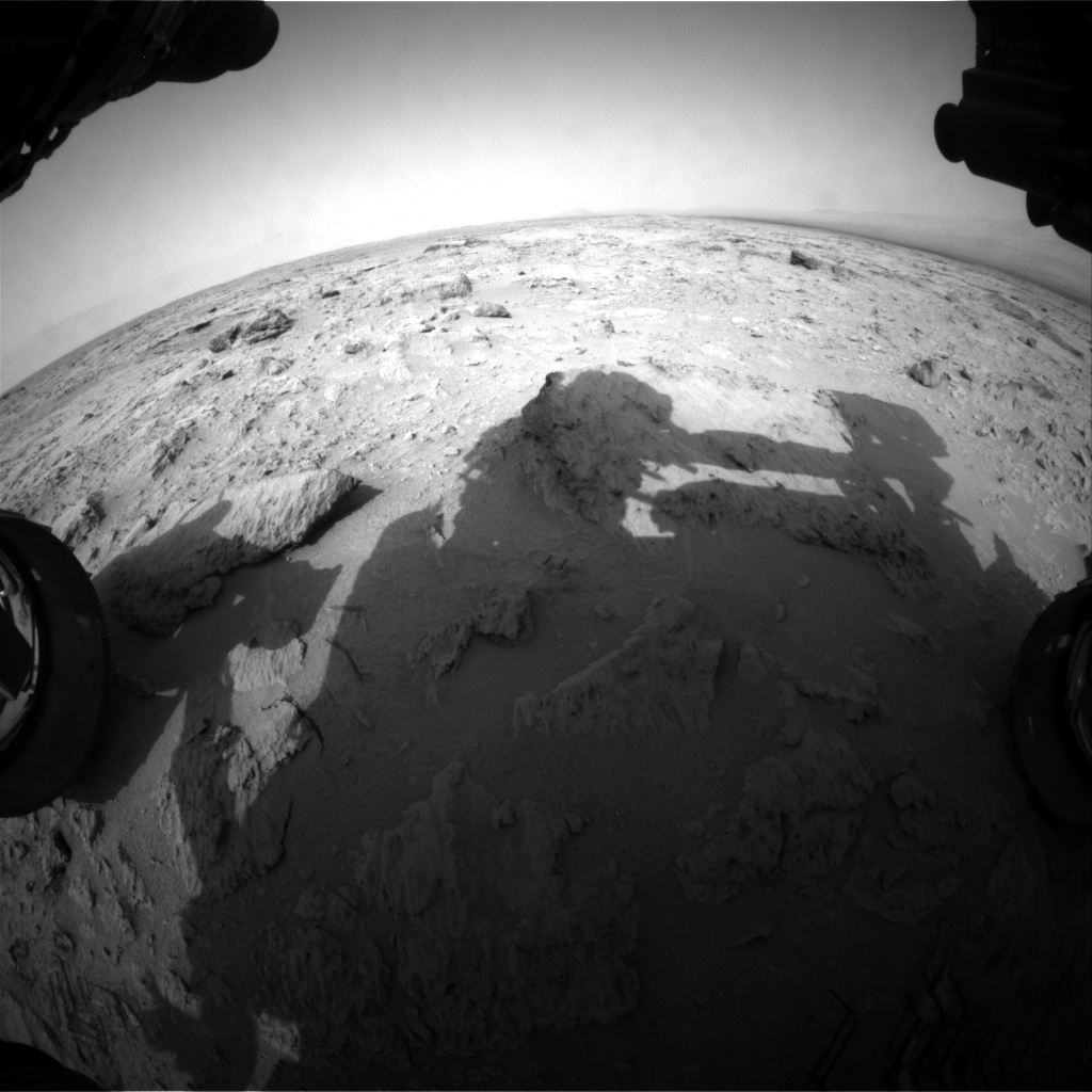 NASA's Mars rover Curiosity acquired this image using its Front Hazard Avoidance Cameras (Front Hazcams) on Sol 118