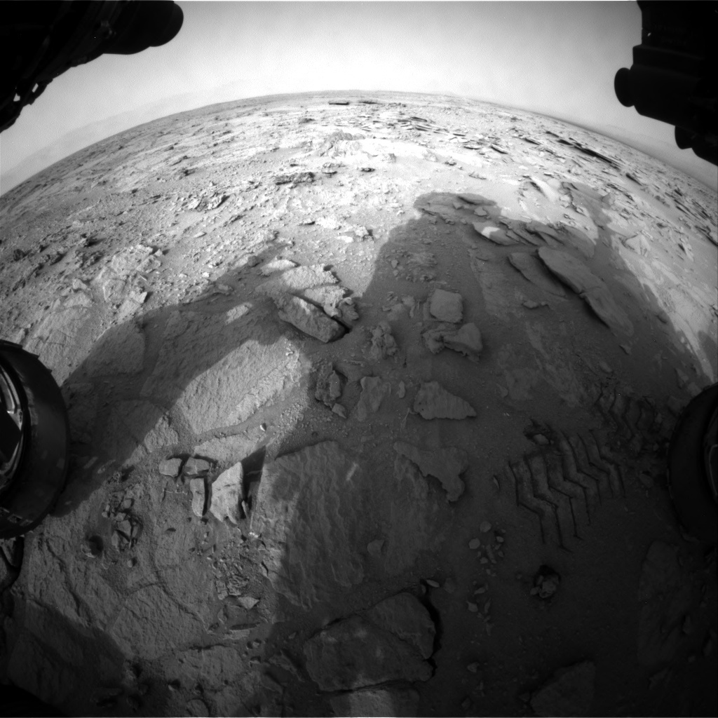 NASA's Mars rover Curiosity acquired this image using its Front Hazard Avoidance Cameras (Front Hazcams) on Sol 120