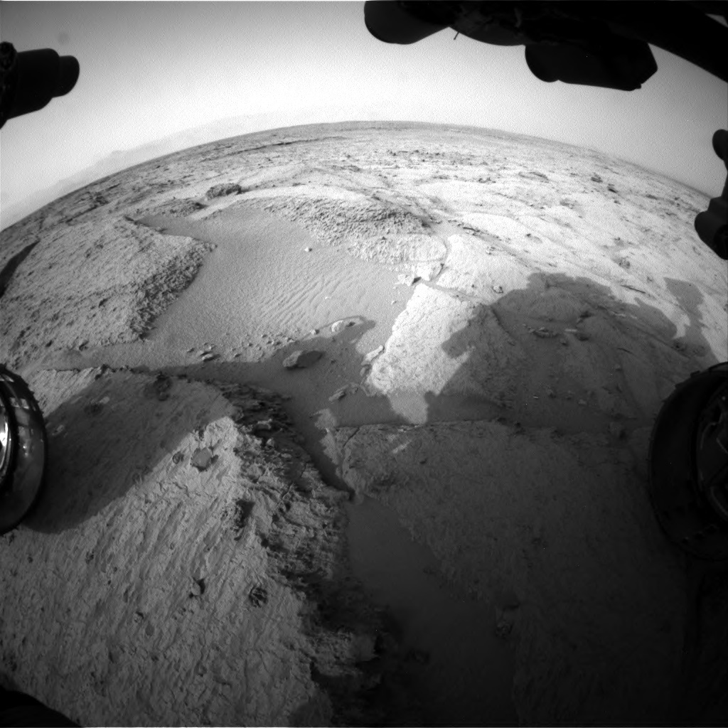 NASA's Mars rover Curiosity acquired this image using its Front Hazard Avoidance Cameras (Front Hazcams) on Sol 121