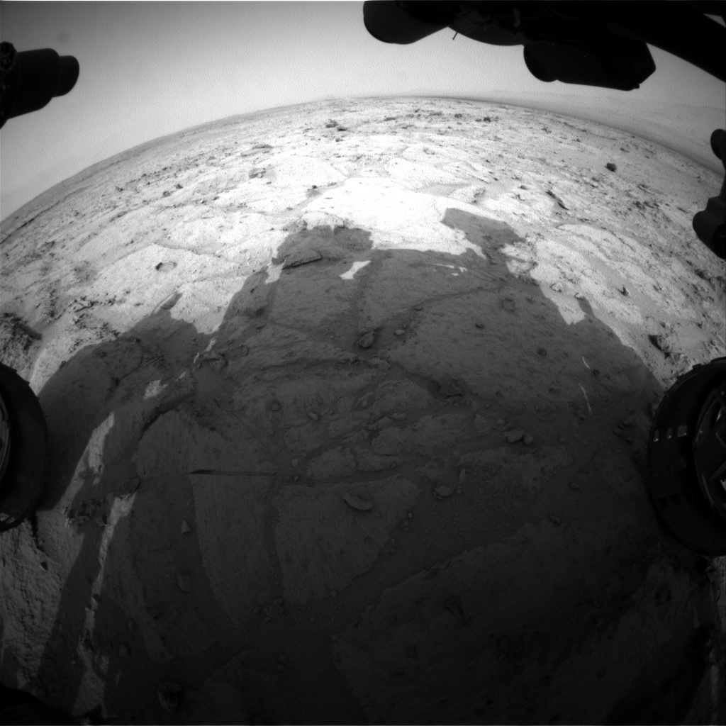 NASA's Mars rover Curiosity acquired this image using its Front Hazard Avoidance Cameras (Front Hazcams) on Sol 122