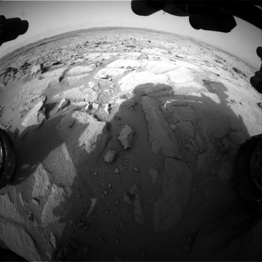 NASA's Mars rover Curiosity acquired this image using its Front Hazard Avoidance Cameras (Front Hazcams) on Sol 123