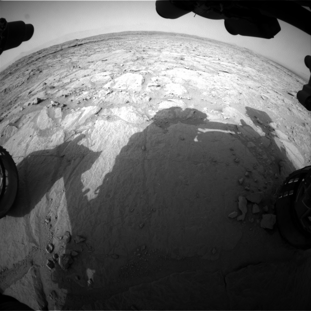 NASA's Mars rover Curiosity acquired this image using its Front Hazard Avoidance Cameras (Front Hazcams) on Sol 124