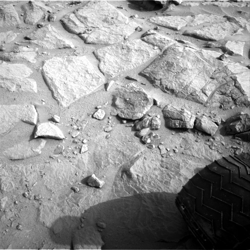 NASA's Mars rover Curiosity acquired this image using its Left Navigation Camera (Navcams) on Sol 124