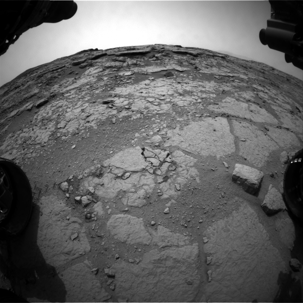 NASA's Mars rover Curiosity acquired this image using its Front Hazard Avoidance Cameras (Front Hazcams) on Sol 125