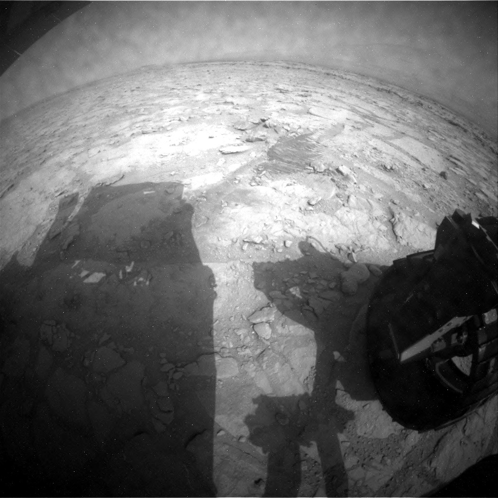 NASA's Mars rover Curiosity acquired this image using its Rear Hazard Avoidance Cameras (Rear Hazcams) on Sol 125
