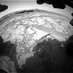 NASA's Mars rover Curiosity acquired this image using its Front Hazard Avoidance Cameras (Front Hazcams) on Sol 127