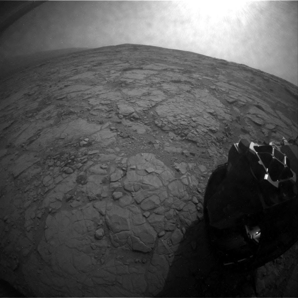 NASA's Mars rover Curiosity acquired this image using its Rear Hazard Avoidance Cameras (Rear Hazcams) on Sol 127