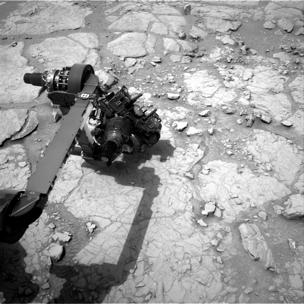 NASA's Mars rover Curiosity acquired this image using its Right Navigation Cameras (Navcams) on Sol 129