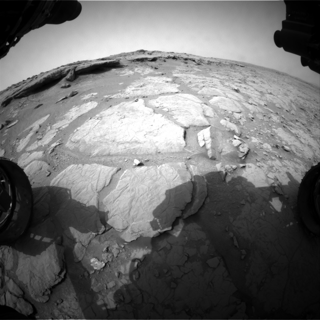 NASA's Mars rover Curiosity acquired this image using its Front Hazard Avoidance Cameras (Front Hazcams) on Sol 130