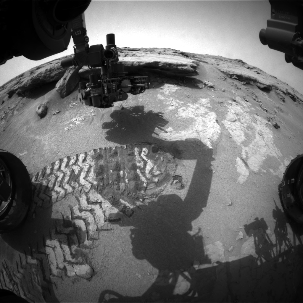 NASA's Mars rover Curiosity acquired this image using its Front Hazard Avoidance Cameras (Front Hazcams) on Sol 132