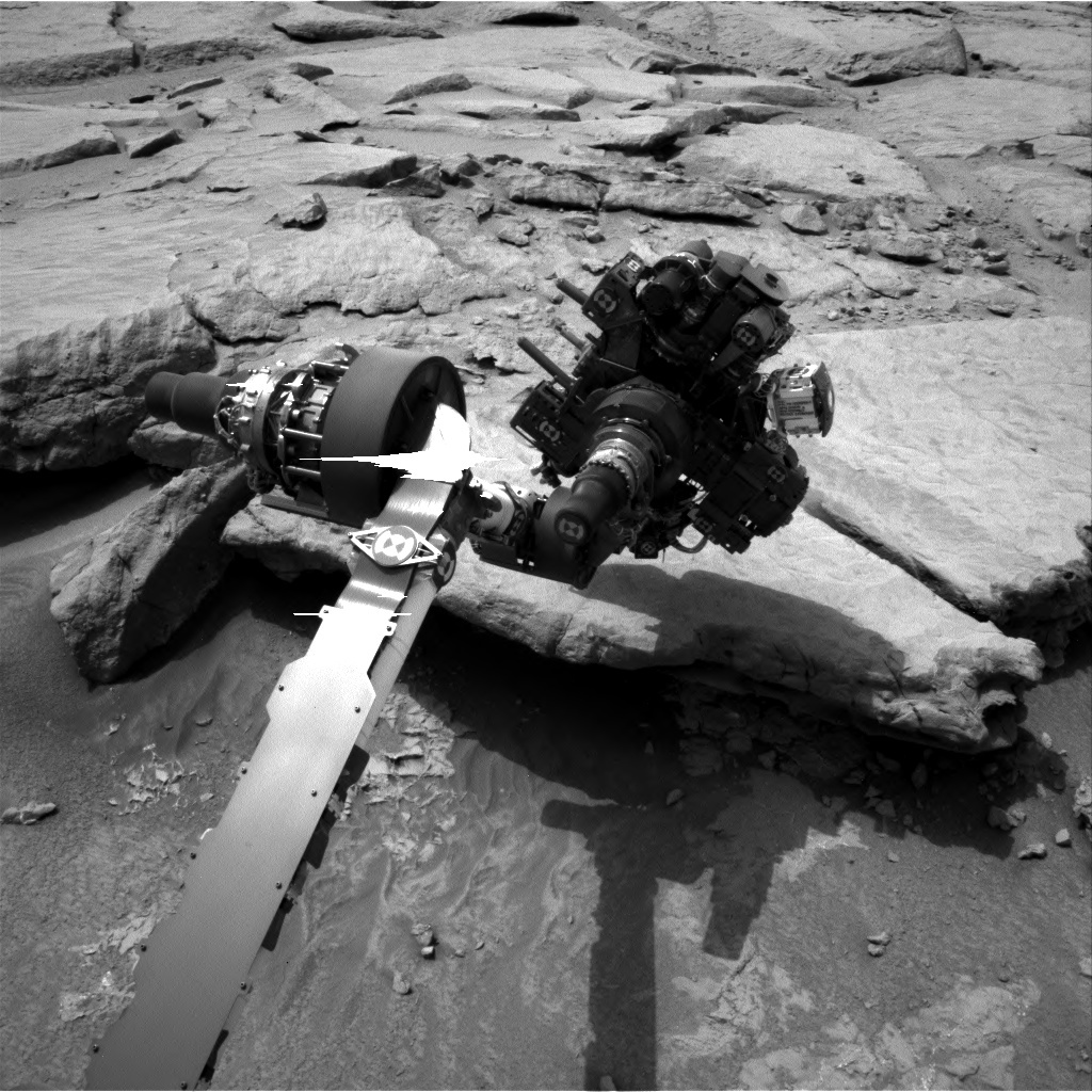 NASA's Mars rover Curiosity acquired this image using its Left Navigation Camera (Navcams) on Sol 132