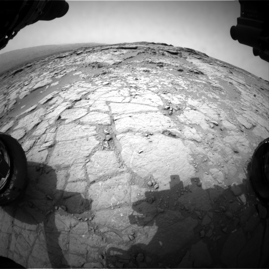 NASA's Mars rover Curiosity acquired this image using its Front Hazard Avoidance Cameras (Front Hazcams) on Sol 136