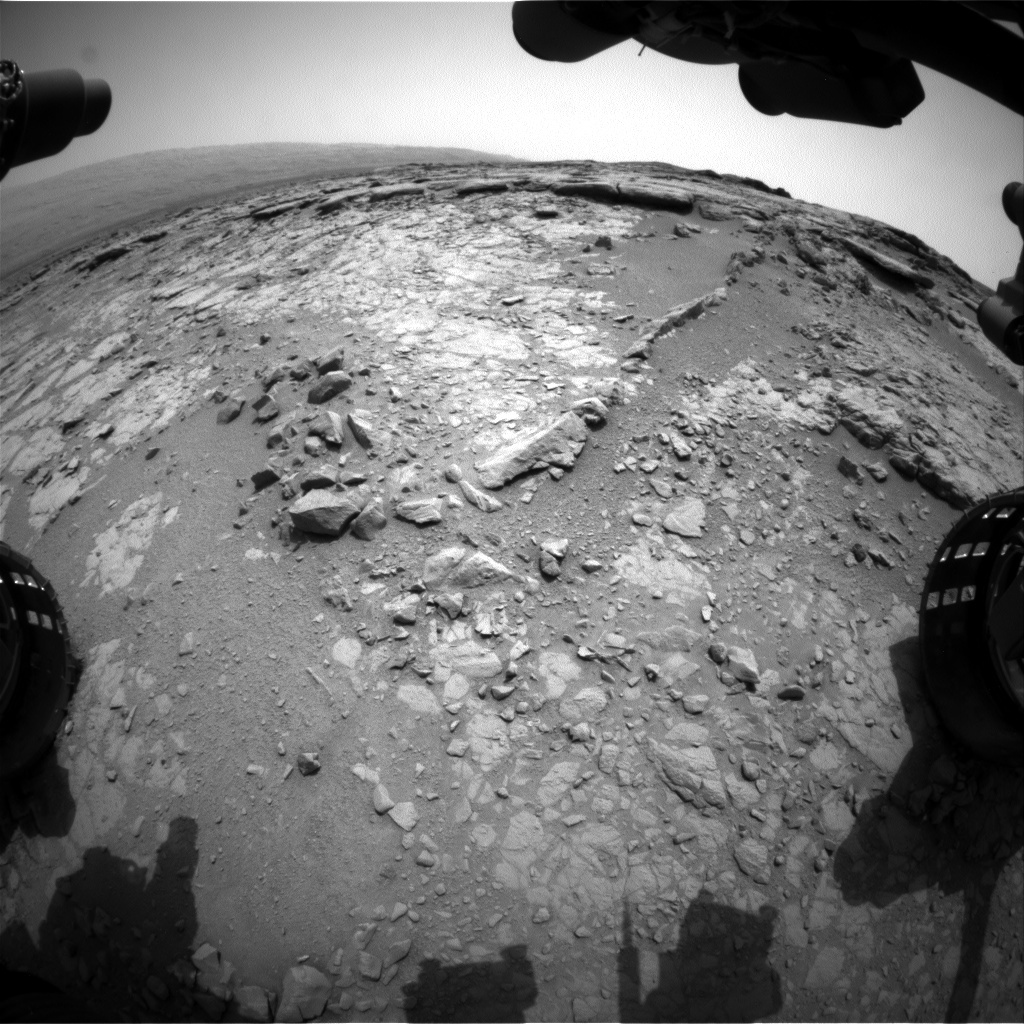 NASA's Mars rover Curiosity acquired this image using its Front Hazard Avoidance Cameras (Front Hazcams) on Sol 147