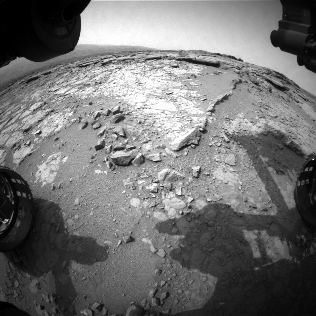 NASA's Mars rover Curiosity acquired this image using its Front Hazard Avoidance Cameras (Front Hazcams) on Sol 148