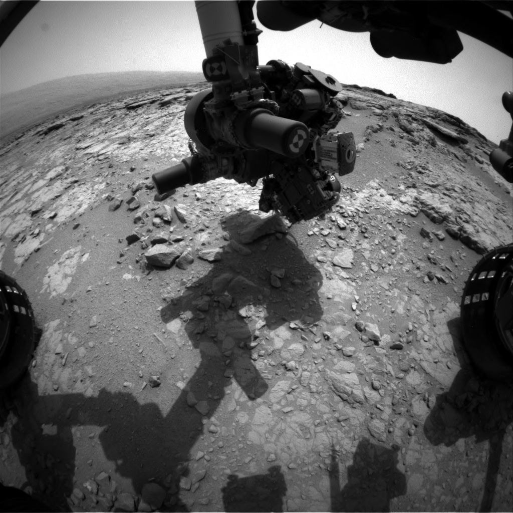 NASA's Mars rover Curiosity acquired this image using its Front Hazard Avoidance Cameras (Front Hazcams) on Sol 149