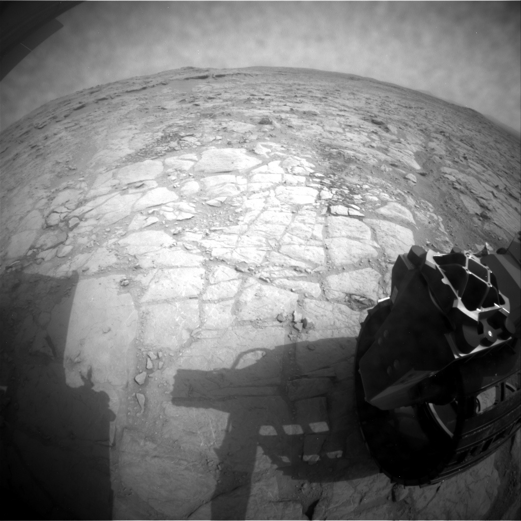 NASA's Mars rover Curiosity acquired this image using its Rear Hazard Avoidance Cameras (Rear Hazcams) on Sol 149