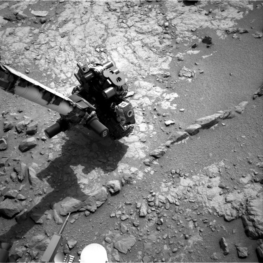 NASA's Mars rover Curiosity acquired this image using its Right Navigation Cameras (Navcams) on Sol 150