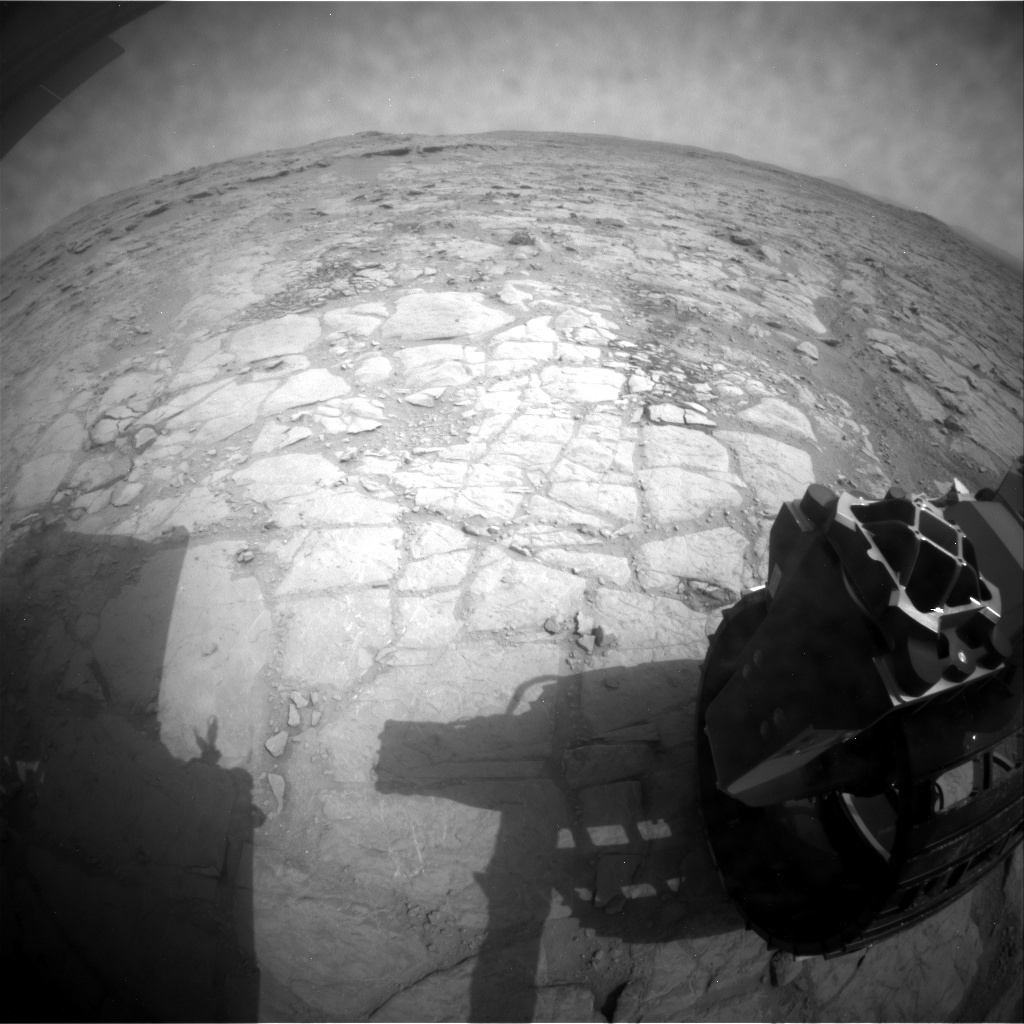 NASA's Mars rover Curiosity acquired this image using its Rear Hazard Avoidance Cameras (Rear Hazcams) on Sol 150