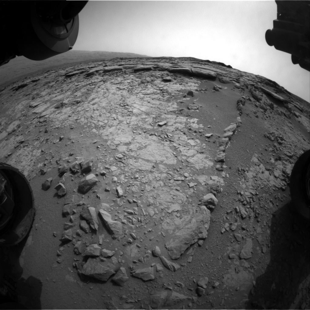 NASA's Mars rover Curiosity acquired this image using its Front Hazard Avoidance Cameras (Front Hazcams) on Sol 151
