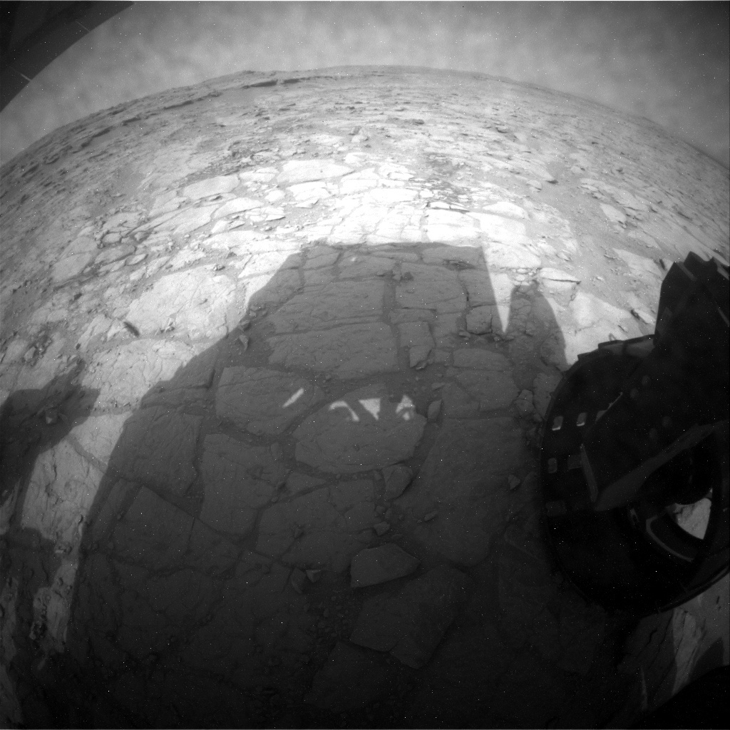NASA's Mars rover Curiosity acquired this image using its Rear Hazard Avoidance Cameras (Rear Hazcams) on Sol 151
