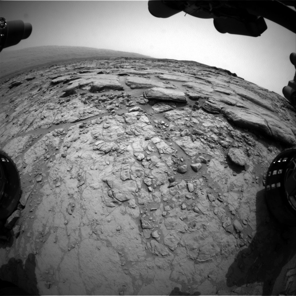 NASA's Mars rover Curiosity acquired this image using its Front Hazard Avoidance Cameras (Front Hazcams) on Sol 152