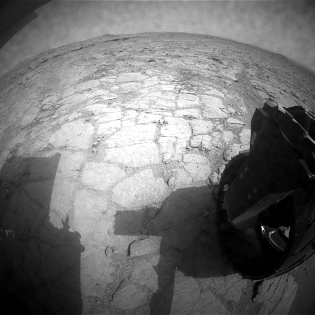 NASA's Mars rover Curiosity acquired this image using its Rear Hazard Avoidance Cameras (Rear Hazcams) on Sol 152