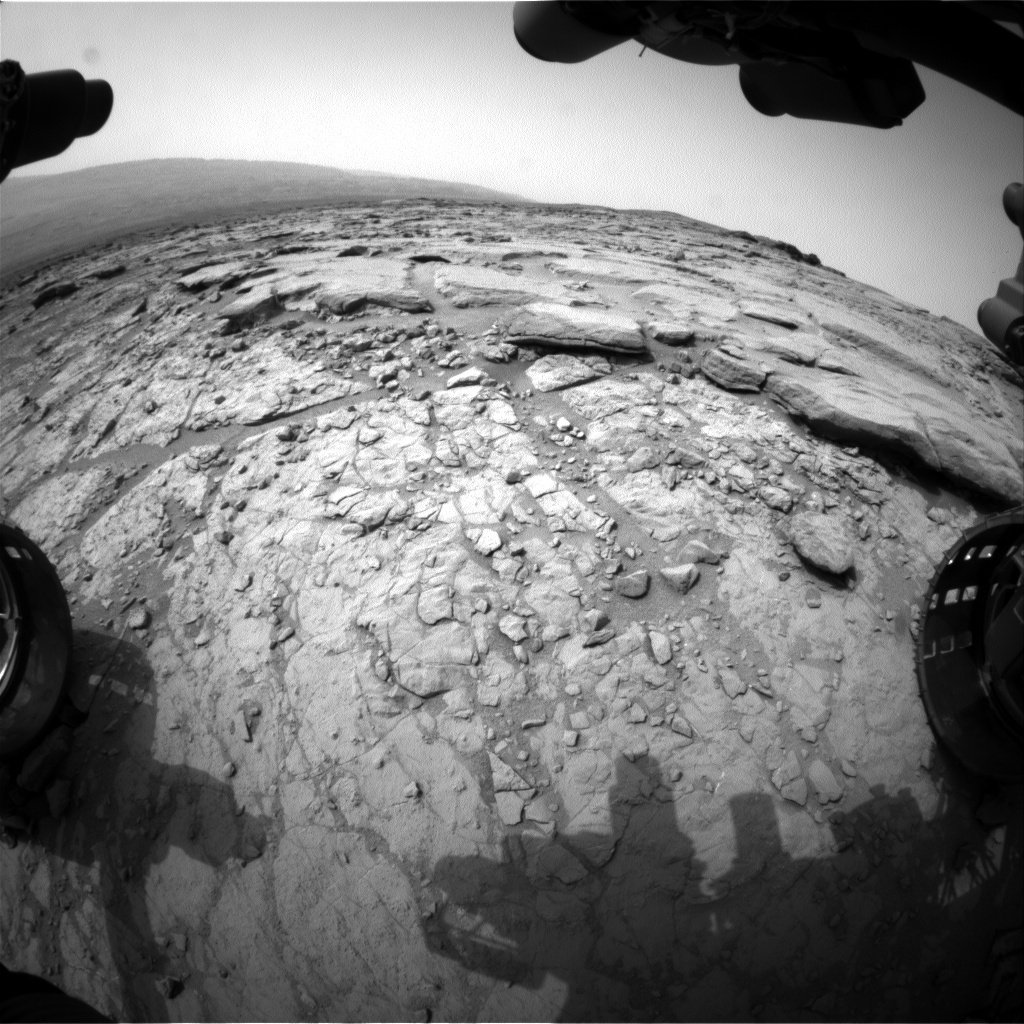 NASA's Mars rover Curiosity acquired this image using its Front Hazard Avoidance Cameras (Front Hazcams) on Sol 153