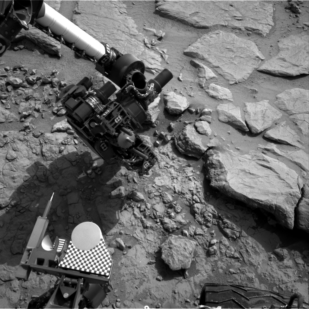 NASA's Mars rover Curiosity acquired this image using its Right Navigation Cameras (Navcams) on Sol 154